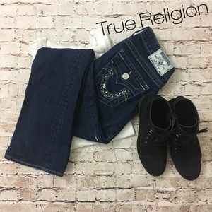 True Religion   Becky bootcut embellished Jeans